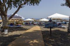 Perissa beach Stock Photography