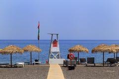 Perissa beach Royalty Free Stock Image