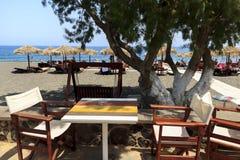 Perissa beach Stock Photo