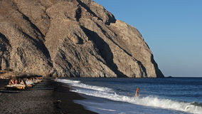 Free Perissa Beach , Santorini , Greece Royalty Free Stock Image - 33994846