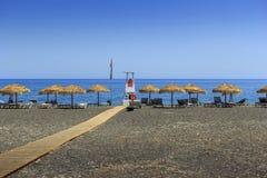 Perissa beach Stock Image