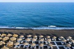 Perissa beach in Santorini Royalty Free Stock Images