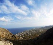 Perissa on santorini. Perissa settlement on Santorini island, Greece royalty free stock image
