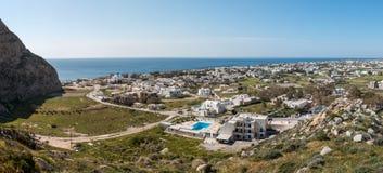 Perissa View. View to Perissa city in Santorini. Greece Stock Images