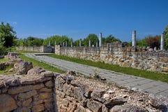 Peristyl komplex Abritus in der anwesenden Stadt Razgrad Lizenzfreie Stockfotografie