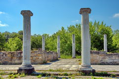 Peristyl komplex Abritus in huidige stad Razgrad Royalty-vrije Stock Foto's
