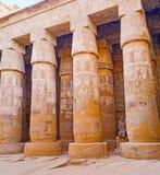 The Peristyle Court of Khonsu Temple Stock Photo