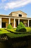 Peristylen av casaen del Menandro, Pompeii arkivbild