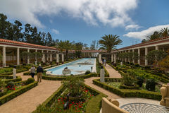 Peristylträdgård royaltyfri foto
