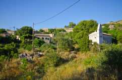 Perithia - abandoned oldest village on Corfu, Greece Stock Photos
