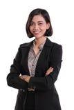 Perito fêmea seguro do negócio, isolado no branco imagem de stock