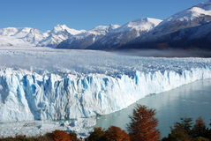 Perito Moreno. View of the front of Perito Moreno Glacier in Argentina Royalty Free Stock Photo