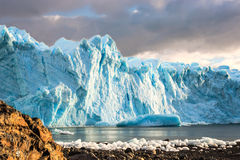 Perito Moreno, Argentina. Early morning on the glacier Perito Moreno, Argentina Stock Photo