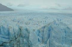 Perito Moreno Glaciar Huge View. Perito Moreno Glacier in Argentina, South America in a Rainy day Royalty Free Stock Images