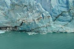 Perito Moreno Glaciar Ice falla Arkivfoton