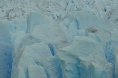 Perito Moreno Glaciar Ice Texture. Detail of a piece of Ice from the Patagonian Glacier called Perito Moreno Stock Image