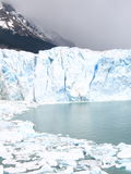 Perito Moreno Glacier. With chunks of ice in lake Royalty Free Stock Images