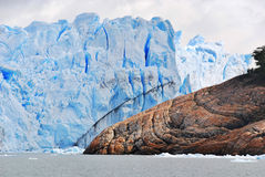 The Perito Moreno Glacier. Is a glacier located in the Los Glaciares National Park in the Santa Cruz province, Argentina. It is one of the most important Royalty Free Stock Photo