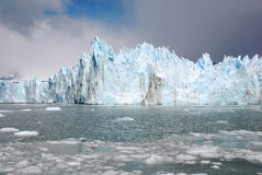 The Perito Moreno Glacier. Is a glacier located in the Los Glaciares National Park in the Santa Cruz province, Argentina. It is one of the most important Stock Photography