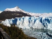 Perito Moreno Glacier. From viewing area, Argentina Stock Photography