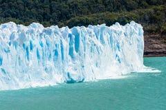 Perito Moreno Glacier in Argentina. Detail of a mighty turquoise ice of Perito Moreno glacier. Los Glaciares national park, Argentina Stock Photos