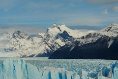 Perito Moreno Glacier in Argentina. This is the Glacier of Perito Moreno in Patagonia Argentina a few kilometers from the city of El Calafate Stock Images