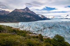 Perito Moreno Glacier au parc national de visibilité directe Glaciares dans le Patagonia - EL Calafate, Santa Cruz, Argentine Images libres de droits