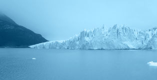 Perito Moreno glacier in blue tone. Argentina Royalty Free Stock Photo