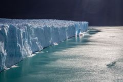 Perito Moreno Glacier breaking down stock photo