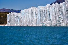 Perito Moreno glacier. Day view from the water at the Perito Moreno glacier in Patagonia, Argentina Royalty Free Stock Images