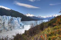 Perito Moreno glacier in El Calafate, Argentina. View over the Perito Moreno glacier in El Calafate, Argentina Royalty Free Stock Photos