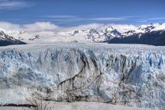 Perito Moreno glacier in El Calafate, Argentina. View over the Perito Moreno glacier in El Calafate, Argentina Stock Images