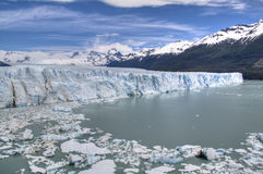 Perito Moreno glacier in El Calafate, Argentina. View over the Perito Moreno glacier in El Calafate, Argentina Stock Photo