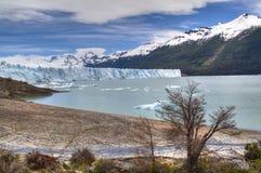 Perito Moreno glacier in El Calafate, Argentina. View over the Perito Moreno glacier in El Calafate, Argentina Royalty Free Stock Image