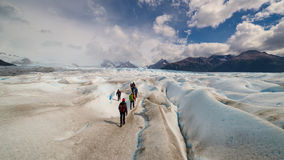 Perito Moreno Glacier, El Calafate, Argentinian Patagonia. Trekking on Perito Moreno Glacier, the most famous in Los Glaciares National Park, El Calafate stock photos