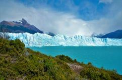 Perito Moreno glacier in El Calafate. Panoramic view of the Perito Moreno glacier in El Calafate, Argentina stock photos