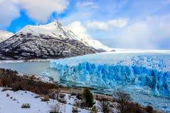 Perito Moreno Glacier, El Calafate, Patagonia, Argentina Arkivbilder