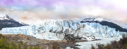 Perito Moreno Glacier en parc national de visibilité directe Glaciares Images libres de droits