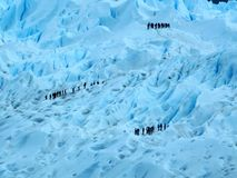 Perito Moreno glacier hiking adventure over the ice Argentina Patagonia Royalty Free Stock Images