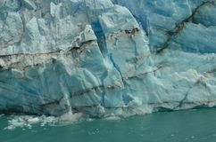 Perito Moreno Glacier Ice Breaking stock afbeeldingen