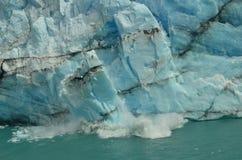 Perito Moreno Glacier Ice Breaking. Perito Moreno Glacier Piece of Ice suddenly falling to the lake Stock Image