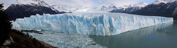 Perito Moreno Glacier im Patagonia, Nationalpark Los Glaciares, Argentinien Stockbilder