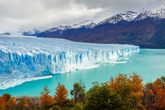The Perito Moreno Glacier. Is a glacier located in the Los Glaciares National Park in Santa Cruz Province, Argentina. Its one of the most important tourist Stock Image