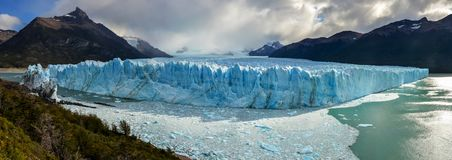Perito Moreno Glacier in Los Glaciares National Park in El Calafate, Argentina, South America. Panorama picture of Perito Moreno Glacier in Los Glaciares stock photos