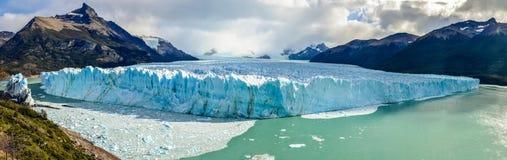 Perito Moreno Glacier in Los Glaciares National Park in El Calafate, Argentina, South America. Panorama picture of Perito Moreno Glacier in Los Glaciares stock photography
