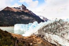 Perito Moreno Glacier, nationalpark för Los Glaciares i sydväster S Arkivfoto