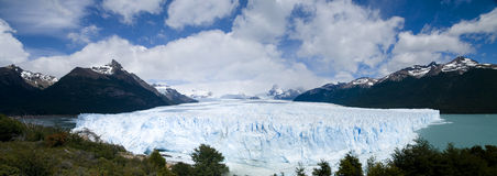 Perito Moreno Glacier - Panorama Royalty-vrije Stock Afbeeldingen