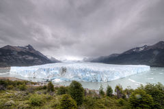 Perito Moreno glacier panorama. The Perito Moreno Glacier is a glacier located in the Los Glaciares National Park in southwest Santa Cruz Province, Argentina. It Stock Photo