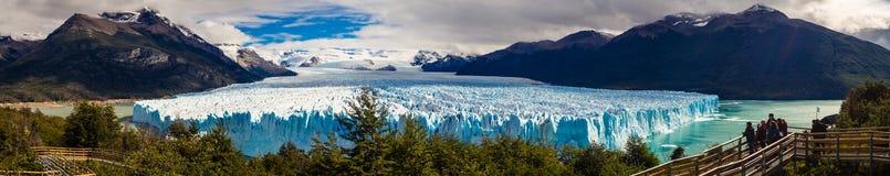 Perito Moreno glacier panoramic landscape in Patagonia, Argentina stock photography