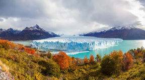 The Perito Moreno Glacier. Panoramic view. It is is a glacier located in the Los Glaciares National Park in Patagonia, Argentina Royalty Free Stock Image